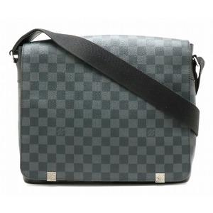 LOUIS VUITTON Louis Vuitton Damier Graphite District MM NM Shoulder Bag Men N41029
