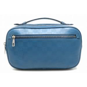 LOUIS VUITTON Louis Vuitton Damier Infinian Braille 2WAY Body Bag Shoulder Clutch Leather Neptuni Blue N41354
