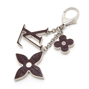 LOUIS VUITTON Louis Vuitton Bijouxac Fleur De Epi Keychain Bag Charm Logo Plunné Electric M66368