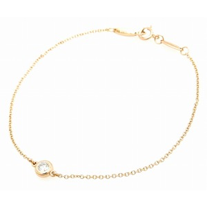 TIFFANY & Co. Tiffany by the yard diamond bracelet K18PG pink gold RG rose 1PD 0.10ct