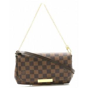 LOUIS VUITTON Louis Vuitton Damier Favorite PM Accessory Pouch Clutch Bag Chain Shoulder Semi N41276