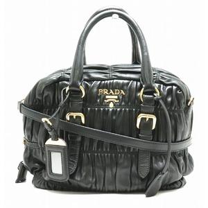 PRADA Prada handbag 2WAY shoulder bag gather nappa leather black NERO BL0759