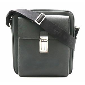 PRADA Prada Saffiano shoulder bag leather NERO black silver metal fittings VA1023