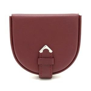 Cartier mast line must de square coin purse case leather calf bordeaux silver L3000572