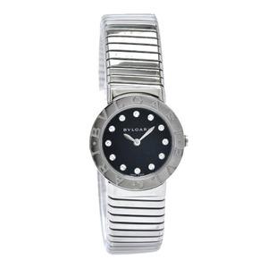 BVLGARI Tubogas 12P Diamond Ladies Quartz Watch BBL262TS