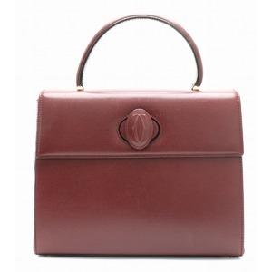 Cartier Mastline Handbag Leather Bordeaux Red