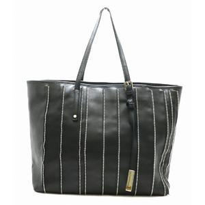 JIMMY CHOO Jimmy Choo Tote bag Shoulder Zipper motif Leather Black Silver hardware