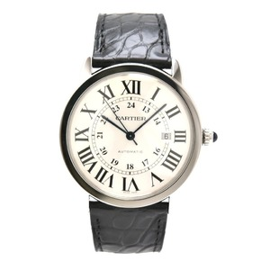 CARTIER Rondo Solo XL Silver Dial SS Mens Automatic Watch W6701010