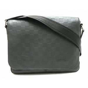 LOUIS VUITTON Louis Vuitton Damier Infini District PM Messenger Bag Shoulder Leather Onyx Black N41286