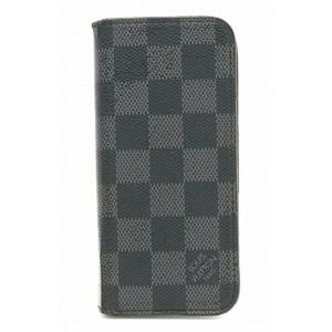 LOUIS VUITTON Louis Vuitton Damier Graphite Etui iPhone Folio 7 Case Smartphone Initial N61067