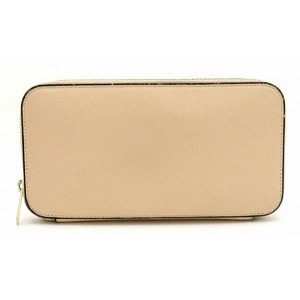 valextra Vallextra Round fastener Long wallet Leather Natural beige V9L06 028 00CI CIPRIA