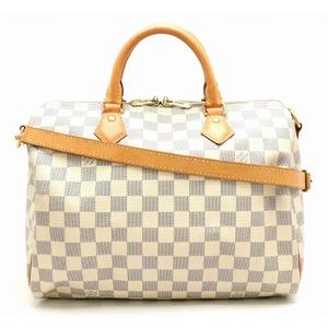 LOUIS VUITTON Louis Vuitton Damier Azur Speedy Band Lierre 30 Handbag 2WAY Shoulder Bag N41373