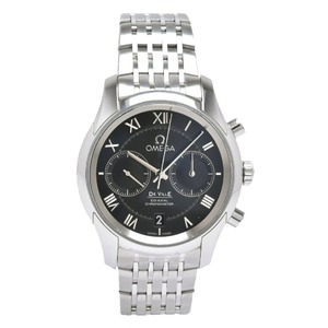 OMEGA Omega De Ville Devil Co-Axial Chronograph Date Black Dial SS Men's Automata Watch 431.10.42.51.01.001