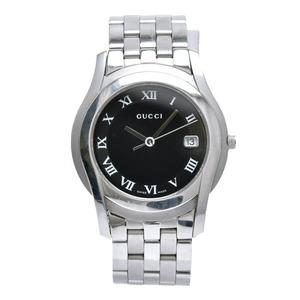 GUCCI Gucci Black Dial Date Men's QZ Quartz Wrist Watch 5500M