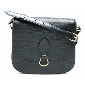 LOUIS VUITTON Louis Vuitton Epi Sancure Shoulder Bag Leather Noir Black M52192