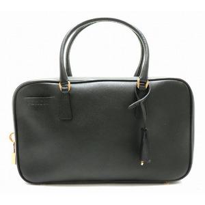 Prada Saffiano handbag SAFFIANO LUX leather NERO black gold hardware BN0198