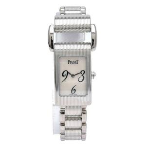 PIAGET Miss Protocol Shell Dial K18WG 750WG White Gold Ladies Quartz Watch 5321