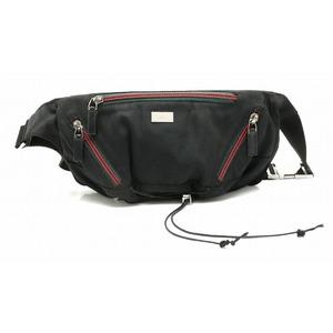 GUCCI Gucci sherry line body bag waist pouch nylon black 122350