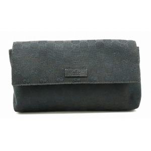 GUCCI Gucci GG canvas body bag waist pouch black 146304