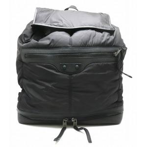 BALENCIAGA Backpack Rucksack Nylon Leather Black Men's 340138