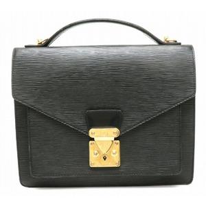 LOUIS VUITTON Louis Vuitton Epi Monceau Second Bag Handbag Leather Noir Black Gold Hardware Shoulder Missing Item M52122
