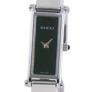 GUCCI Gucci 1500L Stainless Steel Silver Quartz Ladies Black Dial Wrist Watch