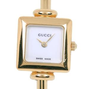 GUCCI Gucci 1900L Stainless Steel Gold Quartz Ladies White Dial Wrist Watch