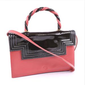 GHERARDINI 2WAY Shoulder Leather Patent Ladies Handbag