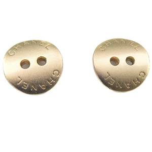 CHANEL Chanel Button Motif Gold 00A Engraved Ladies Earrings