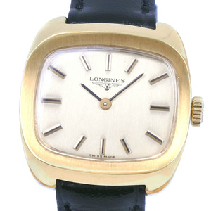 LONGINES Longines cal.460 stainless steel leather manual winding ladies gold dial watch