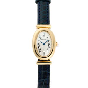 Cartier Bénéwar B Plan Quartz Off-white Dial 750YG Watch 1910481