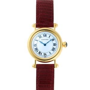 Cartier Diabolo LM Mechanical Manual W1508151 White Enamel Dial 750YG Watch 1910550