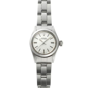 ROLEX Rolex Oyster Perpetual Automatic 6718 Silver Mosaic Dial SS Watch 2010021