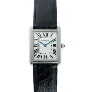 Cartier Tank Solo LM Quartz W5200003 Silver Dial SS Watch 1920139
