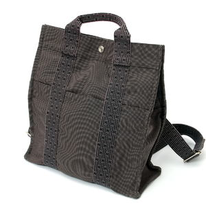 HERMES Hermes Ale line ad MM rucksack bag gray canvas 2010092