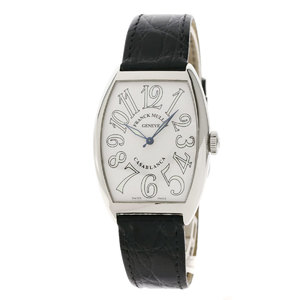 Franck Muller 6850MC Casablanca Wrist Watch Stainless Steel Leather Men FRANCK MULLER