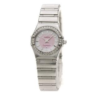 Omega 1466.85 Constellation Bezel Watch Stainless Steel SS Diamond Ladies OMEGA