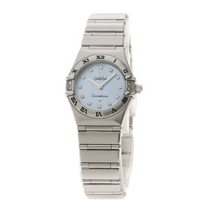 Omega Constellation 12P Diamond Watch Stainless Steel SS Ladies OMEGA