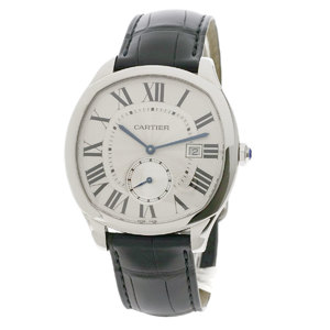 Cartier WSNM0004 Drive de Watch Stainless Steel Leather Men CARTIER
