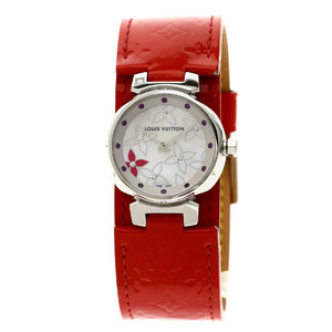 Louis Vuitton Q121J Tambour Lovely Rack Watch Stainless Steel Verni Ladies LOUIS VUITTON