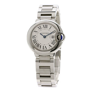 Cartier W69010Z4 Baron Blue SM 28mm Watch Stainless Steel SS Ladies CARTIER