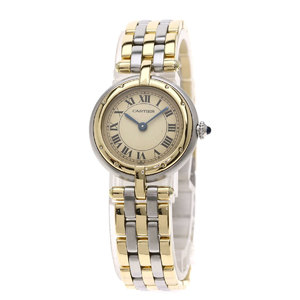 Cartier Panthere Round 3ROW Watch Stainless Steel SS K18YG Ladies CARTIER