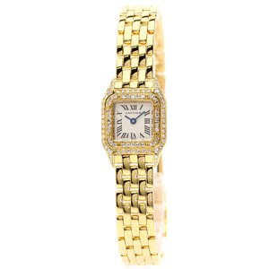 Cartier WF3141BP Mini Pantail Bezel Diamond Watch K18 Yellow Gold K18YG Ladies CARTIER