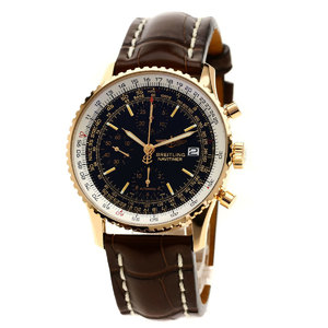 Breitling R132B46WBA Old Navitimer 100 pieces limited watch K18 pink gold leather men's BREITLING