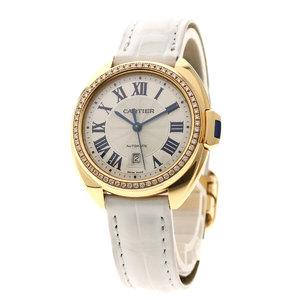 Cartier WJCL0016 Clé de 31 watch K18 pink gold leather diamond ladies CARTIER