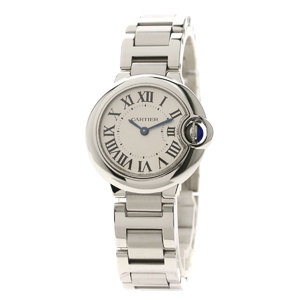 Cartier W69010Z4 Baron Blue Watch Stainless Steel SS Ladies CARTIER