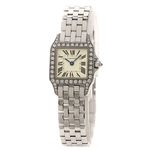 Cartier WF9003Y8 Santos Dumoiselle watch K18 white gold K18WG diamond ladies CARTIER