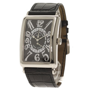 Franck Muller 1100DSRCD Long Island Bere Retrograde Limited 100 watches K18 White Gold Leather Men's FRANCK MULLER