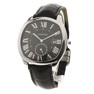 CARTIER WSNM0009 Drive de Carte Watch Stainless Steel Leather Men CARTIER