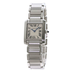 Cartier W51008Q3 Tank Francaise SM Watch Stainless Steel SS Ladies CARTIER